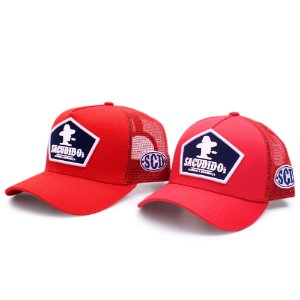 Kit Bonés Pai e Filho - Logo Frente - Vermelho