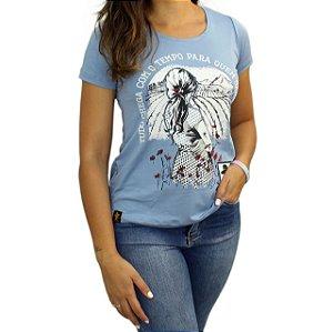 Camiseta SCD's Viscolycra Fem.-Saber Esperar- Azul