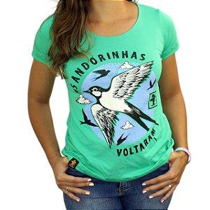 Camiseta SCD's Viscolycra Fem.- Andorinha - Verde