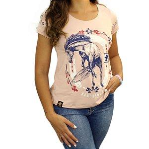 Camiseta SCD's Viscolycra Fem-Cavalo Ferradur-Rose