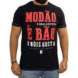 Camiseta Sacudido's Estonada - MODÃO É BÃO - Preta