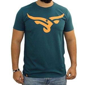 Camiseta Sacudido's - Boi Estilizado - Verde Musgo
