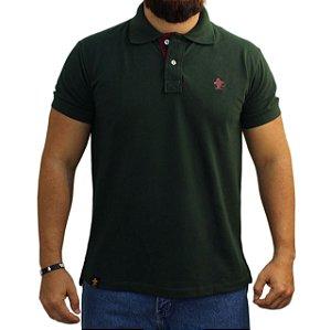 Camiseta Polo Sacudido's - Verde Musgo / Vinho