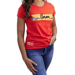 Camiseta BÃO NU MUNDO Feminina - Flecha - Brasa