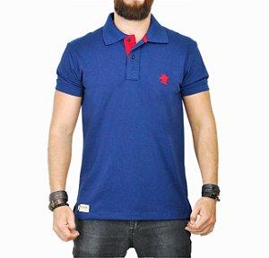 Camiseta Polo Sacudido's - Azul e Vermelha
