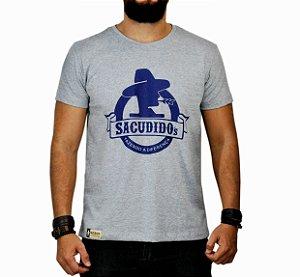 Camiseta Sacudido's Logo Redondo - Cinza Mescla
