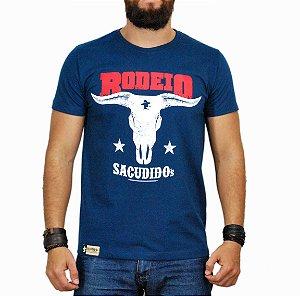 Camiseta Sacudido's Rodeio Azul Marinho