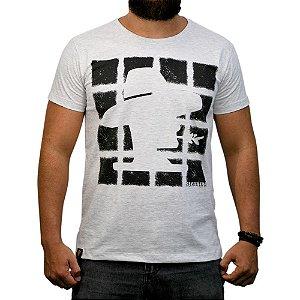 Camiseta Sacudido's Quadrados Cinza Mescla