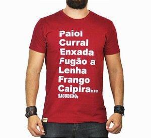 Camiseta Sacudido's - Palavras - Vinho