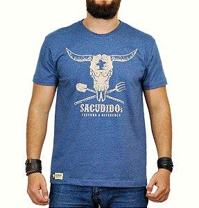 Camiseta Sacudido's Gadanho Azul mescla