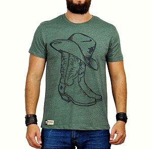 Camiseta Sacudido's Bota verde mescla
