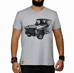 Camiseta Sacudido's F1000 Bruta Cinza Mescla