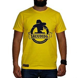 Camiseta Sacudido's - Logo Redondo - Amarelo