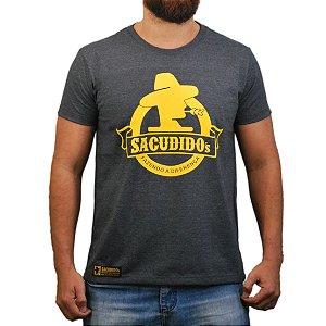 Camiseta Sacudido's Logo Redondo - Chumbo