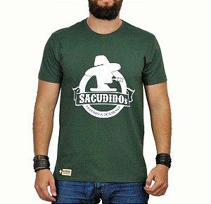 Camiseta Sacudido's - Logo Redondo - Verde Musgo