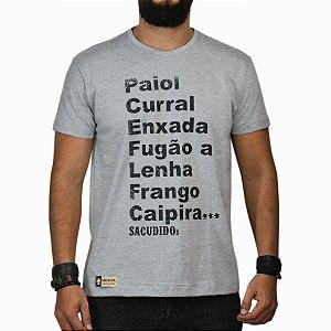 Camiseta Sacudido's Palavras Cinza