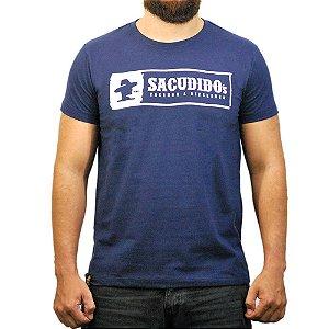 Camiseta Sacudido's - Logo Etiqueta - Marinho