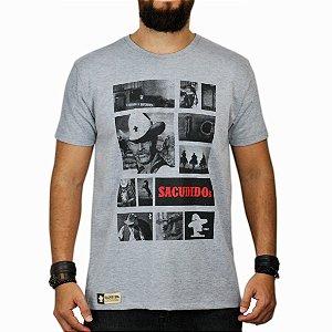 Camiseta Sacudido's Fotos Cinza