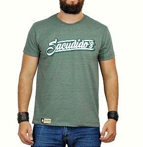 Camiseta Sacudido´s Assinatura Verde Mescla