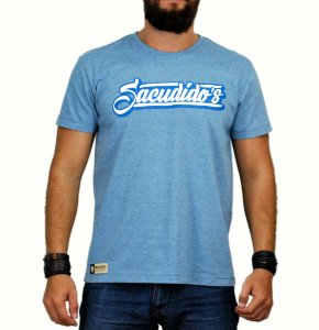 Camiseta Sacudido´s Assinatura Azul Mescla