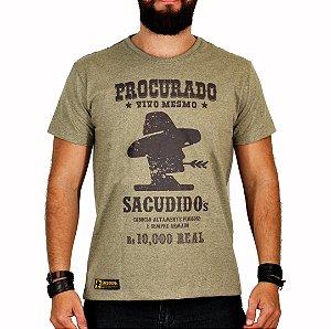 Camiseta Sacudido's - Procurado - Charuto Mescla