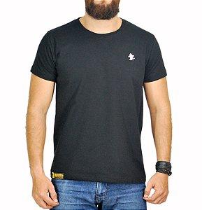 Camiseta Sacudido's - Básica - Preta e Cinza Claro