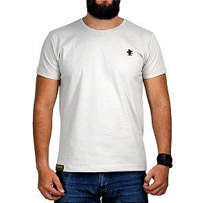 Camiseta Sacudido's Básica - Bege e Verde