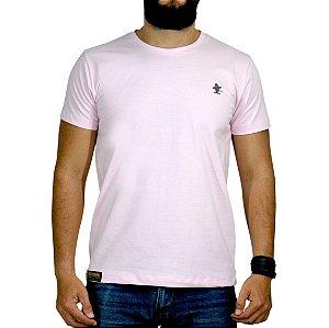 Camiseta Sacudido's Básica - Rosa e Cinza