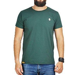 Camiseta Sacudido's Básica - Verde Musgo e Bege