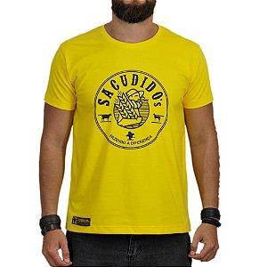 Camiseta Sacudido's Produtor Rural - Amarelo e Azul