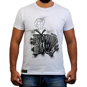 Camiseta Sacudido's Sanfoneiro - Branca
