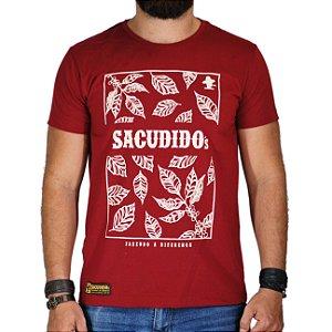 Camiseta Sacudido´s Folhas Café - Vinho