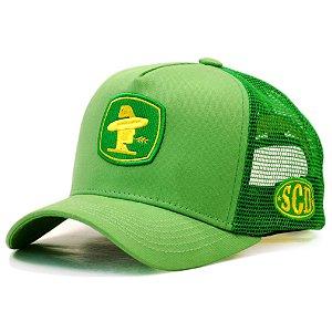 Boné Sacudido's Verde Amarelo Trator