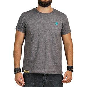 Camiseta Sacudido's Básica - Marrom Mescla