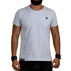 Camiseta Sacudido's - Básica - Cinza Claro e Azul