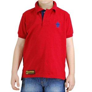Camiseta Polo Infantil Sacudido's - Vermelha