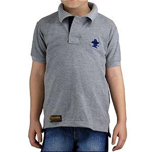 Camiseta Polo Infantil Unissex Sacudido's - Cinza