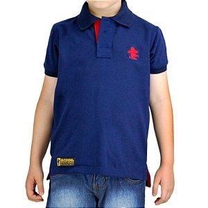 Camiseta Polo Infantil Unissex Sacudido's - Azul