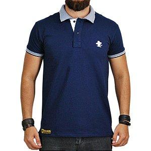 Camiseta Polo Granfino Sacudido s - Azul Gola Trabalhada 0b045590de496