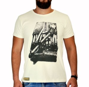 Camiseta Sacudido's Fósforo Bege