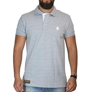 Camiseta Polo Granfino Lisa Sacudido's - Cinza Mescla