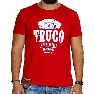 Camiseta Sacudido's Truco - Vermelho