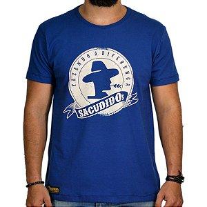Camiseta Sacudido's Estampa Tradicional Marinho