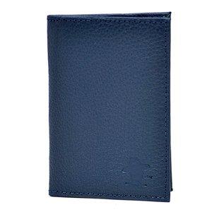Carteira em Couro Sacudido's - Napa Azul