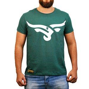 Camiseta Sacudido's Cabeça Boi Estilizada - Verde Musgo