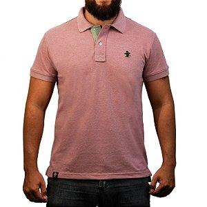Camiseta Polo Sacudido's - Vinho e Verde