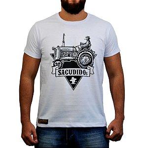 Camiseta Sacudido's - Trator - Branca