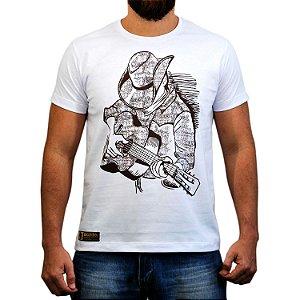 Camiseta Sacudido's Violeiro - Branca
