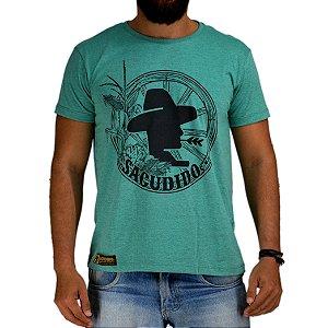 Camiseta Sacudido's - Roda de Verde Mescla