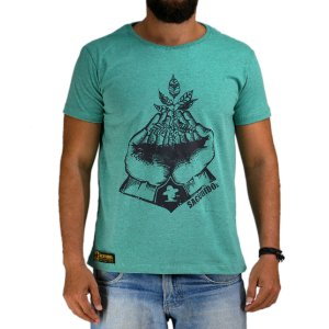 Camiseta Sacudido's Muda de Café - Verde Mescla